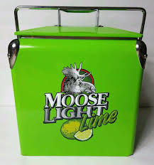 Metal Budweiser Cooler by Moosehead Moose Light Lime Metal Beer Cooler With Bottle Opener