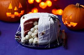 chocolate halloween cakes spider u0027s nest cake halloween food tesco real food