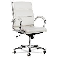 Red Leather Swivel Chair by Alera Neratoli Mid Back Swivel Tilt Chair By Alera Alenr4206