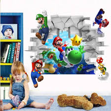 aliexpress com buy 2015 kids nursery super mario bros 3d view aliexpress com buy 2015 kids nursery super mario bros 3d view art wall stickers decals home decor from reliable home decor suppliers on babelin home decor