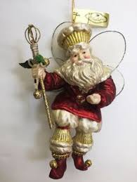 resin santa claus ornament christmas old world santa with a sack
