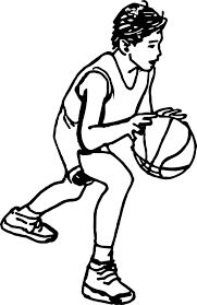 cartoon boy playing basketball coloring page wecoloringpage