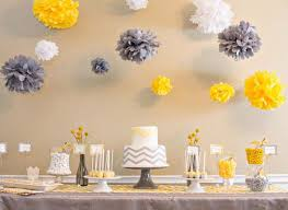 yellow and gray baby shower decorations best 25 chevron baby showers ideas on price is right
