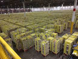 Hit The Floor Amazon - everything u0027s bigger at amazon pallone visits center where robots
