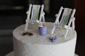 chair cake topper awesome wedding cake toppers theme with get away shell