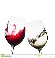 red and white wine glasses stock photos image 35372833