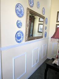 Diy Chair Rail Wainscoting Diy Faux Wainscoting In The Dining Room At The Picket Fence