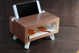 wood charging station christmas gift desk accessories