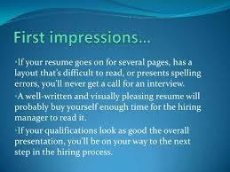 benefits of a well written resume