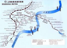 Map Of Shanghai Shanghai Subway Map With Bilingual Text Shanghai Travel Map Map