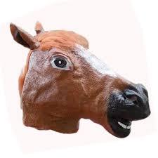 fake horse head new 1pc horse head mask creepy halloween costume fur mane latex