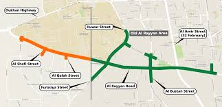 Doha Qatar Map Qatar U0027s Ashghal Announces Detours At E Ring Road Al Rayyan