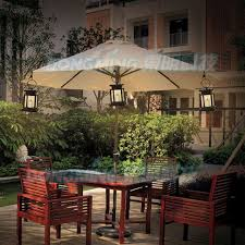 Garden Patio Lights Furniture Qpau Patio Umbrella Light Lighting Modes Cordless Led