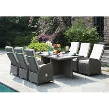 dhi clearwater 7 piece dining set with cushion patio dining sets