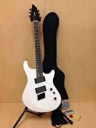 fanned fret 6 string bass haze 6 white fanned frets 6 string electric guitar free gig bag