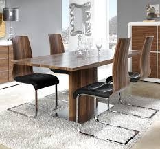 Modern Manhattan Walnut Look Veneer Extending Dining Table With A - Walnut dining room chairs