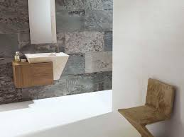 wall hung washbasin cabinet wooden contemporary zen wood l