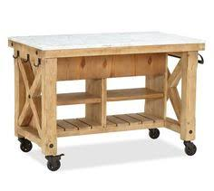 hamilton reclaimed wood marble top kitchen island pottery barn i