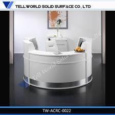 custom made reception desk circular shape design solid surface man made custom made reception