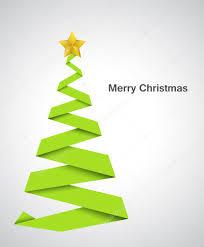 folded paper art christmas tree design u2014 stock vector baavli