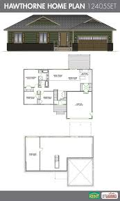 hawthorne 3 bedroom 2 bath home plan features open concept