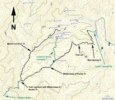 mt lemmon hiking trails map mount lemmon trail 5 meadow loop trail tucson surrounding