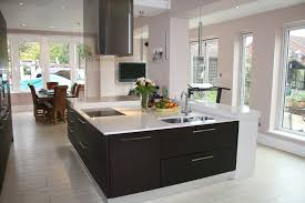 Large Kitchens With Islands Large Contemporary Square Kitchen Island Built To Incorporate A