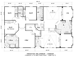 4 bedroom double wide mobile home floor plans including collection