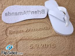 wedding flip flops custom wedding sandals personalize your own sand