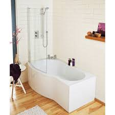 premier b shaped p shaped bath pbs003 1500mm x 735 850mm acrylic