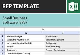 small business software sbs rfi rfp template