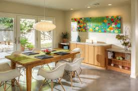 canvas painting ideas for dining room dining room midcentury with