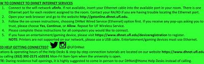 Uf Computing Help Desk Dhnet Internet Services