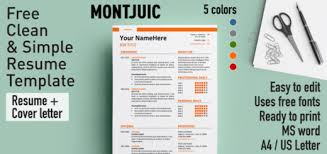 Free Colorful Resume Templates Free Resume Templates With Icons Rezumeet