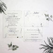 wedding invitations handmade handmade paper wedding invitations recycled custom seed paper