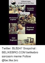 Different Types Of Memes - different types of engineers at job place computer engineer office