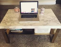 diy marble coffee table fpudining