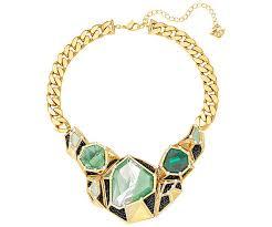 swarovski fashion necklace images Huge necklace multi colored gold plating outlet swarovski jpg