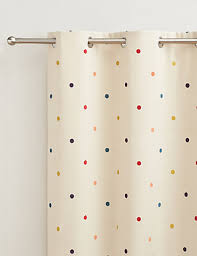 Marks And Spencer Kids Curtains Multi Spotted Jacquard Eyelet Curtains M U0026s