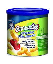 graduates snacks buy gerber graduates lil crunchies zesty tomato baked corn snack