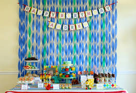 background decoration for birthday party at home birthday party wall decoration ideas blue green crepes paper and