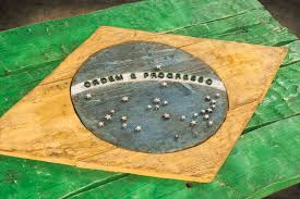 Brizil Flag Brazilian Flag Weathered Distressed Wood Flag Limited Edition