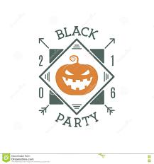 happy halloween vintage vintage retro halloween party invitation label stock vector