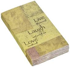 Live Love And Laugh by Amazon Com Avanti Live Love And Laugh Guest Paper Towels
