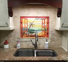 Kitchen Tile Backsplash Murals Uncategorized Florida Tile Mural Backsplash Tiles Palm Tree Art