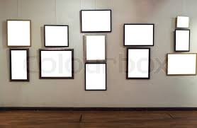 blank gallery wall blank photo frames on gallery wall stock photo colourbox