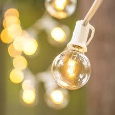 100 ft long christmas lights led globe string lights g40 bulb 100 ft white c7 strand warm white