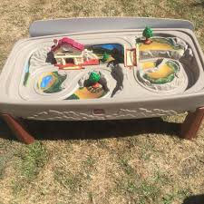 step 2 plastic train table find more step 2 kids train or car play table with table top like