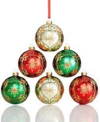 set of 5 white poinsettia glass ornaments only at