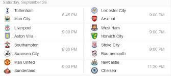 Jadwal Liga Inggris Siaran Langsung Liga Inggris 26 September Malam Ini
